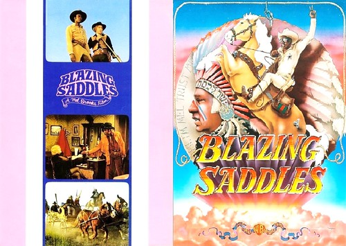 Blazing Saddles (1974 / Warner Bros.) front & back covers