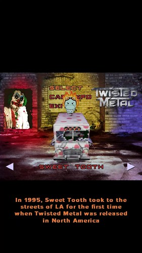 In 1995, Sweet Tooth took to the streets of LA for the first time when Twisted Metal was released in North America. 22 years ago. (11/05/17) #timehop #ss #abe #sweetooth #killerclown #scea #playstation #twistedmetal #vehicularcombat #videogame