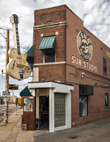 Sun Studio Café (1908), view01, 708-710 Union Ave, Memphis, TN, USA