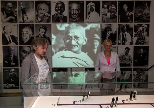 Zdeněk Svěrák visiting Apple Museum