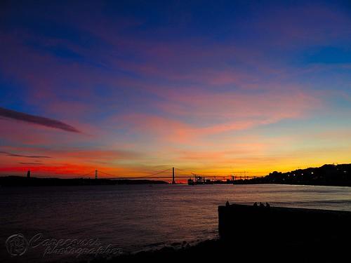 Sunset in Cais do Sodré, Lisboa, Portugal