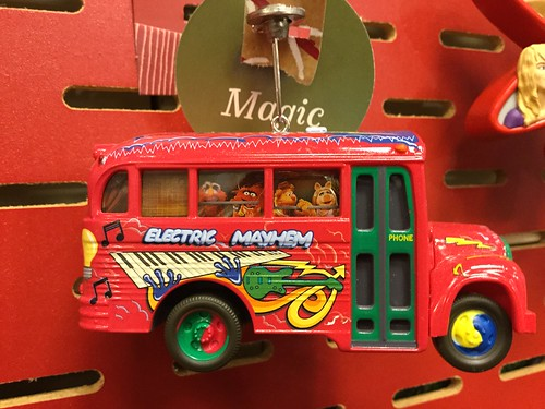 Electric Mayhem bus ornament