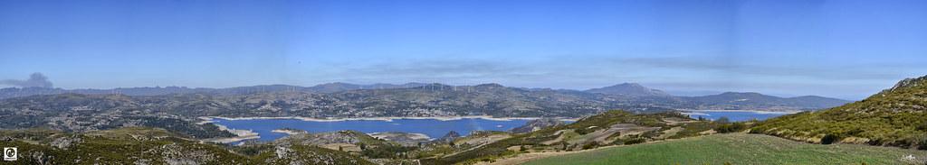Panorama_Barragem dos Pisões - Lama da Missa 280 x 50 cms a