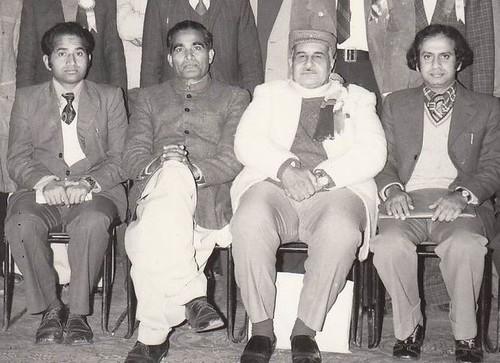 Prof. Younus Hasrat (Left), Dr Tabbassum Kaashmeri,Dr Waheed Quraishi, Dr Ghulam Hussain Zulfiqar