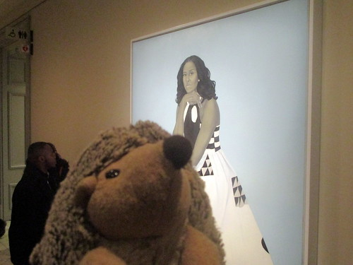 Abby likes the depth and geometry of the Michele Obama portrait!