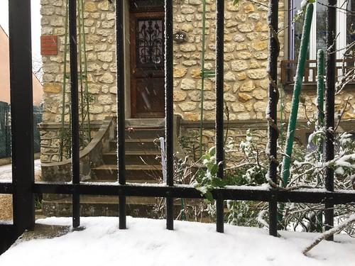 Neige à Cesson (Seine-et-Marne)