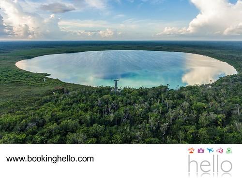 En BOOKING HELLO invitamos a visitar la Laguna Kaan Luum en tus VIAJES DE LUNA DE MIEL 3