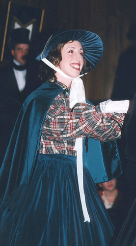 Alethea Immoor (Ali Mulvey at the time) as Ms. Willoughby in A Very Dickens Christmas at the 2nd Annual Port Jefferson Charles Dickens Festival in NY 1997
