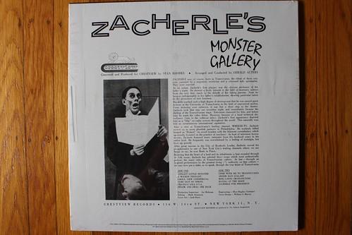 Zacherle's Monster Gallery Back Cover