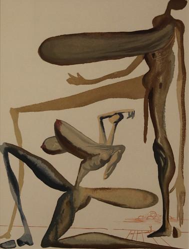 Salvador Dalì (Salvador Domènec Felip Jacint Dalí i Domènech 1904-1989) - la prodigalità - La Divina Commedia (acquarello 1950-1954) - Historian Gallery - Gavirate (Varese)