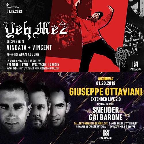 ✨ Get your #ExchangeLA tix 👉 http://j.mp/EXCHANGERL ✨ #YehMe2 @yehme2 #GiuseppeOttaviani @giuseppeottaviani #Sneijder @sneijder @sneijdermusic #GaiBarone @gaibarone #Vindata @vindata_music #Vincent @itsvincent_ #DTLA #Awakeni