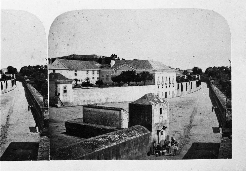 Instituto Agricola de Lisboa, Lisboa, 1862. Imagem estereoscópica da colecção do Conde de Arnoso, in archivo photographico da C.M.L.