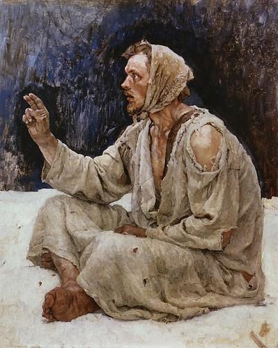surikov, vasily - Yurodivy, Sitting in the Snow