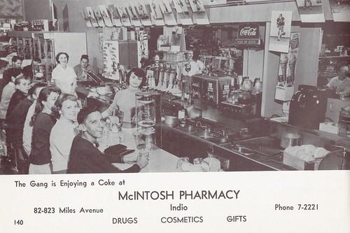 Indio McIntosh Pharmacy 1965 from Bob Tyler