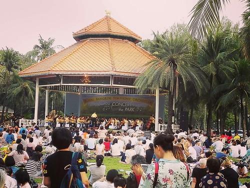 Concert in the Park Free concert with the  Royal Bangkok Symphony Orchestra @ Lumpini Park Bangkok #ikenna #ikennaamaechi #concertinthepark #royalbangkoksymphonyorchestra #lumpinipark #chinesenewyear2018