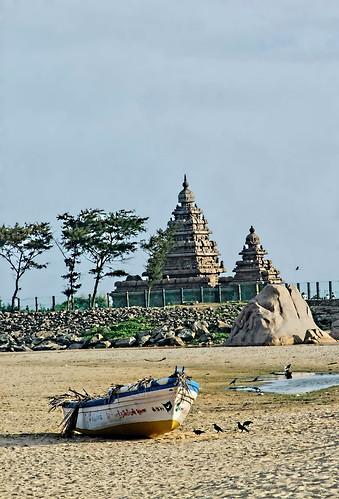 Shore Temple  in Mamallapuram (Mahabalipuram)