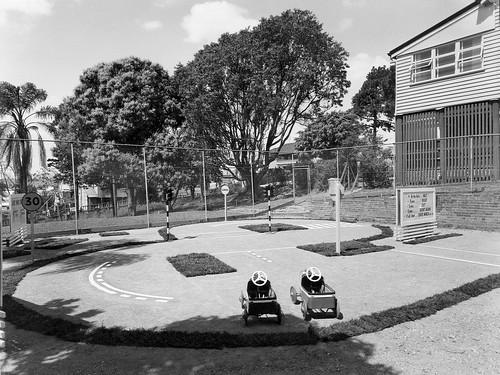 Road Safety display at the Sub-normal Childrens' School, Bowen Hills - Brisbane