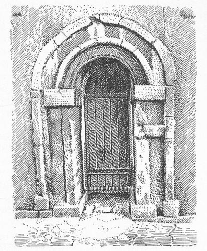 Saxon Architecture. Doorway, Earl's Barton, Northampton