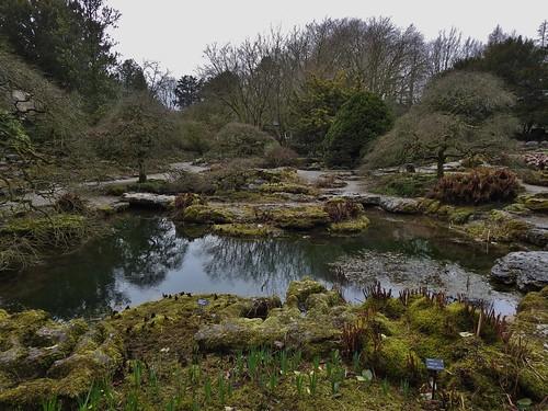 The Rock Garden at Sizergh Castle near Kendal, Cumbria, England - March 2018