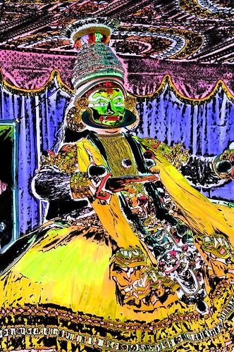 India - Kerala - Fort Cochin - Kathakali Dancer - 209dd