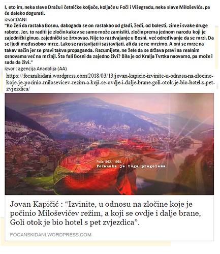 """Jovan Kapičić : """"Izvinite, u odnosu na zločine koje je počinio Miloševićev režim, a koji se ovdje i dalje brane, Goli otok je bio hotel s pet zvjezdica""""."""