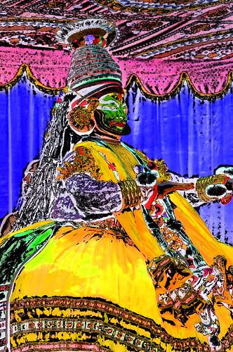 India - Kerala - Fort Kochi - Kathakali Dancer - 4dd