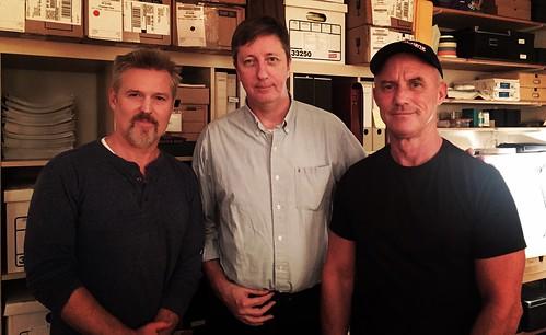 (l to r) Actor Bill Sage, filmmaker Hal Hartley & & actor Robert Burke