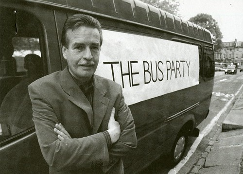 William McIlvanney at the Bus Party, 1997 tour
