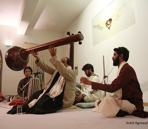 #Ustad Wasifuddin Dagar performing at the #Urs of Hazarat #Sufi Inayat Khan. #Dhrupad #IndianClassicalMusic #Music #heritage #India #IncredibleIndia #Tanpura #Delhi #bliss