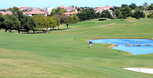 Walking up to the 18th green / The TPC Las Colinas championship course / Irving, TX