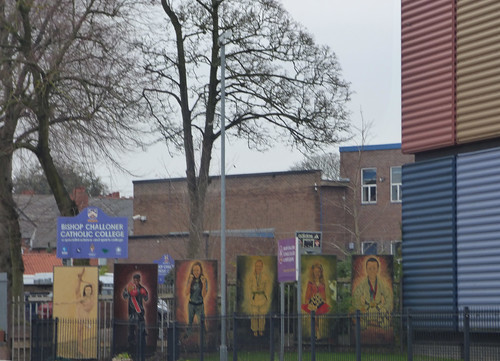 Rubik's Cubes at Bishop Challoner Catholic College & Sports Centre - Institute Road, Kings Heath - painted signs