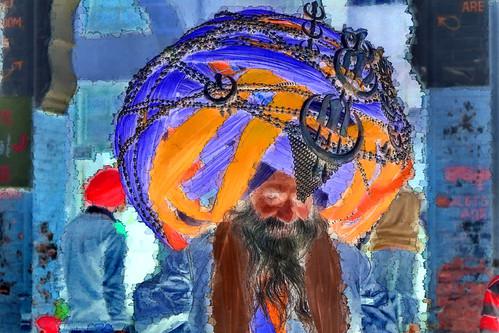 India - Punjab - Amritsar - Sikh With Giant Turban - 94g
