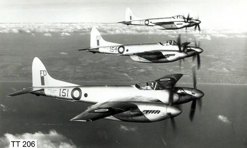 801 Sqdn DeHavilland Sea Hornet F.20 TT206