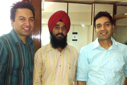 inderjit singh artist with  Manmohan waris & Kamal heer