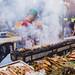 Smokey grill by a vendor, Bacolod City