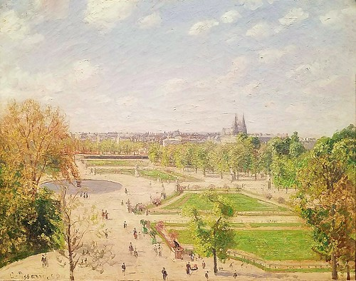 Camille Pissaro,French,The Garden of the Tuileries on a Spring Morning,1899,oil on canvas