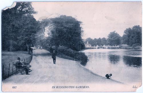 London - Kensington Gardens Prior to 1908. And the Katyn Massacre.