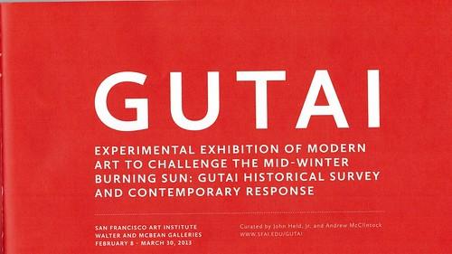 Gutai Exhibtion, San Francisco, 2013