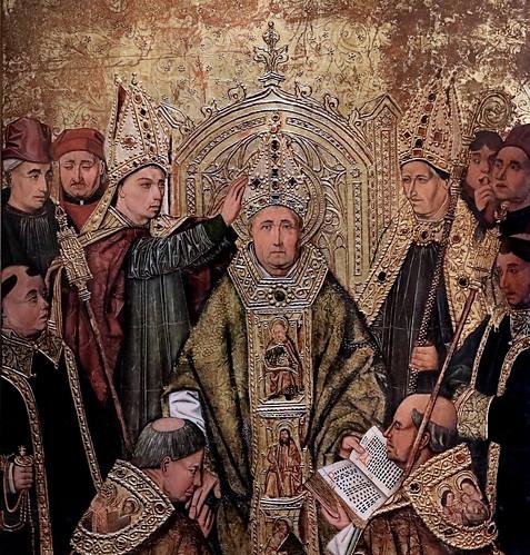 IMG_1200KOA Maitre d'Alfarajin  né vers 1440. Aragon.   Consécration d'un évêque.  Consecration of a bishop. Dijon.  Musée des Beaux Arts.   Elève de Bermejo   Student of Bermejo