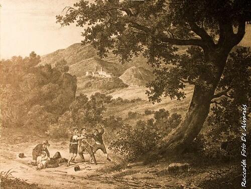 1850 ca 2007 Marino a, scena di brigantaggio, d'anonimo inglese dell'800