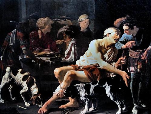 IMG_2153G Hendrick Terbrugghen  1588 1629  Utrecht Amsterdam   L'homme riche et le pauvre Lazare   The rich man and the poor Lazarus  1625  Utrecht Centraal Museum