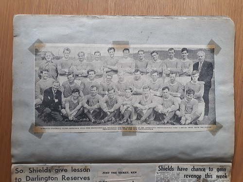 1964-65 Barnsley players take a break from pre-season training