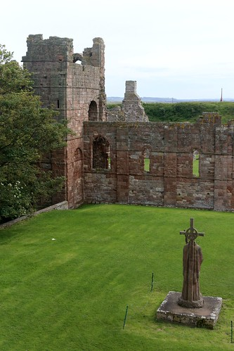 The view from room 10 of the Manor House Hotel, Lindisfarne