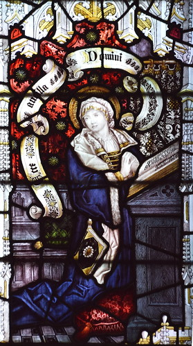 Blessed Virgin at the Annunciation (Kempe & Co, 1892)