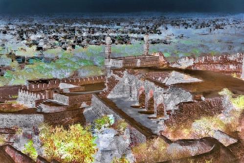 India - Telangana - Hyderabad - Golconda Fort - Ibrahim Mosque - 130bb