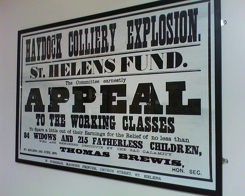 """""""Appeal to the working classes..."""", Haydock Library, 22.4.15"""