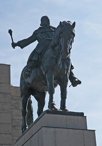 The Monument to Jan Žižka of Trocnov. Vitkov. Prague.