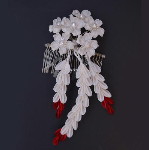 Scarlet Beauty. Cherry blossom wedding design.