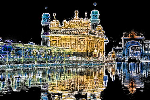 India - Punjab - Amritsar - Golden Temple - Night View - 134dd