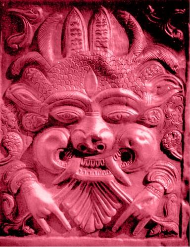 A Flat Door Demon with Bulging Facial Features and Nice Thin Hands